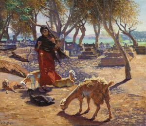 the-young-goat-herder-of-shobrah-egypt-ludwig-deutsch